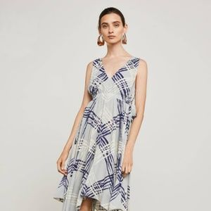 BCBG MAX Azria NWT Chevron Handkerchief Hem Dress